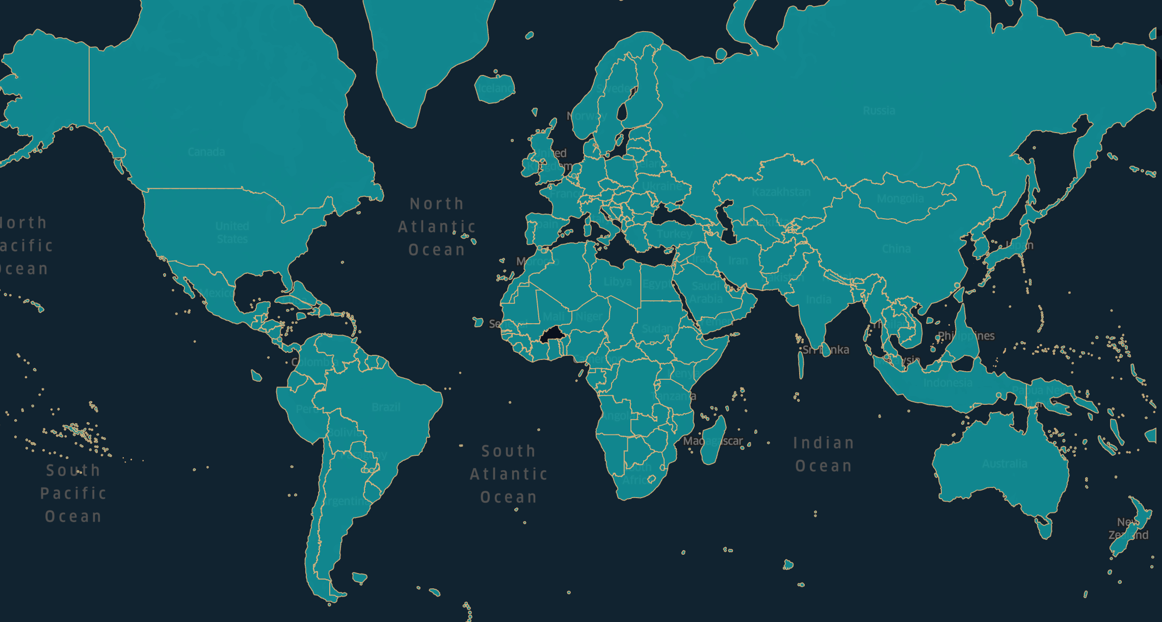 World Countries Borders example from OSM